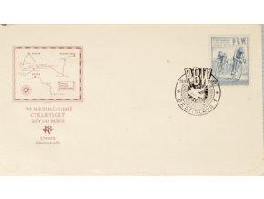 FDC PBW, VI. mezinárdní cyklistický závod míru,1953DSC 6936
