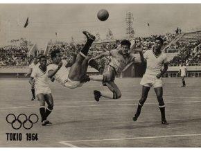 Pohlednice foto Tokio 1964, fotbal IIDSC 6924
