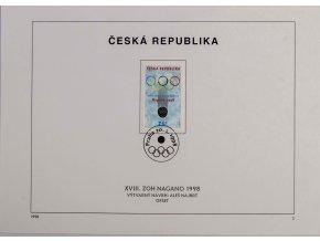 Pamětní list ZOH Nagano 1998DSC 7725