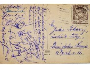 Pohlednice Hokejisté, pozdrav z Ostravy, 1952Pohlednice Hokejisté, pozdrav z Ostravy, 1952 (2)