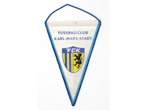 Klubová vlajka Fussball club Karl Marx StadtKlubová vlajka Fussball club Karl Marx Stadt