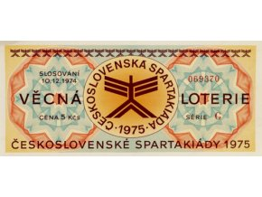 Věcná loterie Československé spartakiády, G,1975Věcná loterie Československé spartakiády, G,1975
