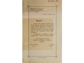 Listina, Výzva Bratrům Sokolům v Plzni, 1923Listina, Výzva Bratrům Sokolům v Plzni, 1923