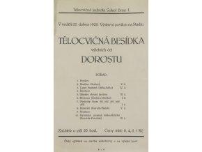 Pozvánka, Sokol Brno, Tělocvičná besídka, 1928Pozvánka, Sokol Brno, Tělocvičná besídka, 1928
