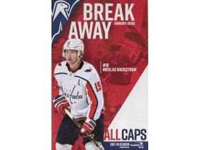Program Break Away, January Issue, Washington capitals, 2018Program Break Away, January Issue, Washington capitals, 2018