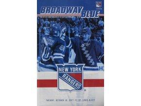 Program NHL, BroadwayBlue, New York Rangers vs. St.Louis Blues, 2017Program NHL, BroadwayBlue, New York Rangers vs. St.Louis Blues, 2017