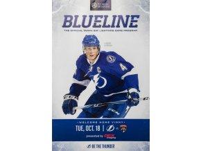 Program NHL, Blueline, Tampa vs. Panthers, Oct, 18, 2017Program NHL, Blueline, Tampa vs. Panthers, Oct, 18, 2017