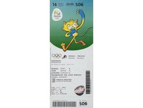 Vstupenka OG Rio 2016, Atletismo MaratonaVstupenka OG Rio 2016, Atletismo Maratona