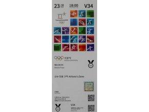 Vstupenka OG Rio 2016, Atletismo MaratonaVstupenka OG PyeongChang, 2018, Victory Ceremony