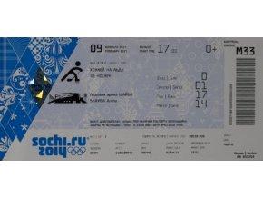 Vstupenka OG Sochi, 2014, Ice HockeyVstupenka OG Sochi, 2014, Ice Hockey