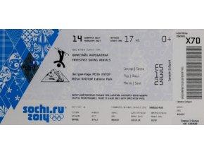 Vstupenka OG Sochi, 2014, Free style skiingVstupenka OG Sochi, 2014, Free style skiing