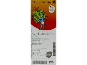 Vstupenka OG Rio 2016,Wheelchair rugbyVstupenka OG Rio 2016,Wheelchair rugby