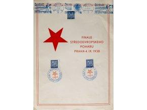 Pamětní list Finále středoevropského poháru 4.IX.1938 IISada 5 ks míčků, Plastic Teable Tennis
