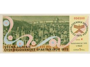 Los Věcná loterie Československé spartakiády, R,1975Los Věcná loterie Československé spartakiády, R,1975