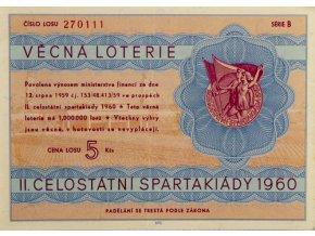 Los Věcná loterie Československé spartakiády, B,1960BLos Věcná loterie Československé spartakiády, B,1960