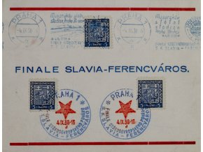 Ústřižek s linkou S.K. Slavia Praha, Slavia vs. Ferencvaros, Ústřižek s linkou S.K. Slavia Praha, Slavia vs. Ferencvaros,