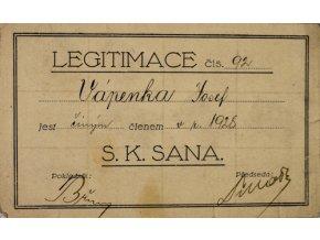 Legitimace S.K.SANA, 1928Legitimace S.K.SANA, 1928 (1)