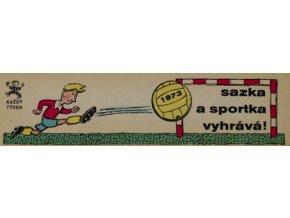 Záložka kalendář Sazka a Sportka vyhrává, 1972Záložka kalendář Sazka a Sportka vyhrává, 1972 1