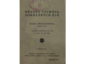 Brožura, Branná výchova sokolských žen, 1936Brožura, Branná výchova sokolských žen, 1936