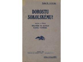 Brožura, Dorostu sokolskému, 1910Brožura, Dorostu sokolskému, 1910