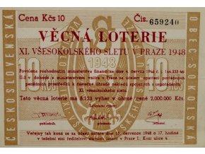 Věcná loterie XI. Všesokolského sletu v Praze, 1948 IIVěcná loterie XI. Všesokolského sletu v Praze, 1948 II