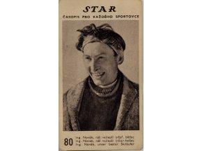 Kartička z časopisu STAR, 80, Ing. Novák, lyž.běžecKartička z časopisu STAR, 80, Ing. Novák, lyž.běžec