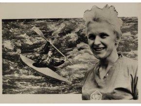 Pohlednice Ludmila Veberová, vodní slalomPohlednice Ludmila Veberová, vodní slalom (1)