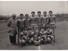 Dobová fotografie fotbalového týmu žáci B, 1961Dobová fotografie fotbalového týmu žáci B, 1961