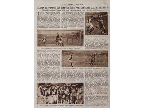 Noviny Le Miroir des Sports, 1929, Slavia BordeauxNoviny Le Miroir des Sports, 1929, Slavia Bordeaux (2)