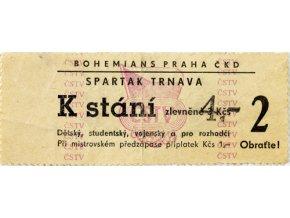 Vstupenka fotbal Bohemians ČKD Praha vsv. Spartak Trnava, 2DSC 8731