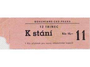 VVstupenka fotbal Bohemians ČKD Praha vs. TŽ Třinec, 11Vstupenka fotbal Bohemians ČKD Praha vs. TŽ Třinec, 11