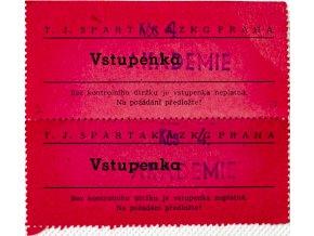 Vstupenka SPARTAK AZKG Praha, Akademie, 2 ksVstupenka SPARTAK AZKG Praha, Akademie, 2 ks