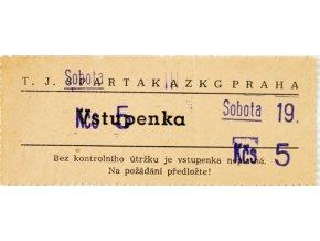 Vstupenka SPARTAK AZKG Praha, Sobota 19DSC 8723