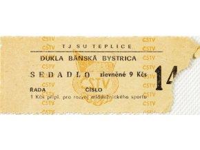 Vstupenka fotbal TJ SU Teplice vs. Dukla Bánská BystricaVstupenka fotbal TJ SU Teplice vs. Dukla Bánská Bystrica