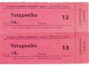 Vstupenka ASVS Dukla PrahaVstupenka ASVS Dukla Praha