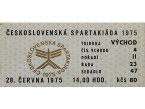 Vstupenka Spartakiáda 1975, 26.VI.DSC 8706