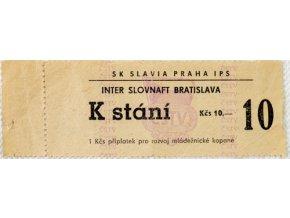 Vstupenka fotbal SK Slavia Praha IPS vs. Inter BratislavaVstupenka fotbal SK Slavia Praha IPS vs. Inter Bratislava