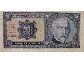 Bankovka, 20 Korun, serie kg Rašín, 1926Bankovka, 20 Korun, serie kg Rašín, 1926 (2)