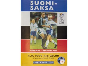 program finland vs deutscheland qeuro 2000 1999Program Finland vs. Deutscheland, QEuro 2000, 1999