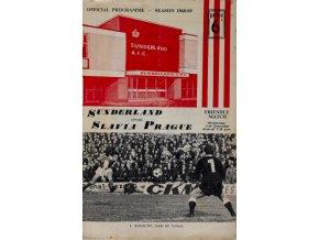 Official Programme Sunderland vs. Slavia Prague, 19681969Official Programme Sunderland vs. Slavia Prague, 19681969 (1)