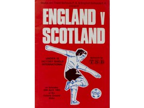Official Programme Englad vs.Scotland, U15, 1983Official Programme Englad vs.Scotland, U15, 1983