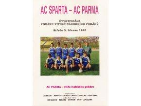 Program Sparťan, AC Sparta Praha vs. AC Parma, 1993Program Sparťan, AC Sparta Praha vs. AC Parma, 1993