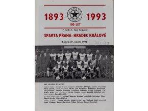 PProgram AC Sparta Praha vs. Hradec Králové, 1993Program AC Sparta Praha vs. Hradec Králové, 1993