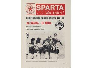 Program AC Sparta Praha vs. FC Nitra, 1992DSC 9189