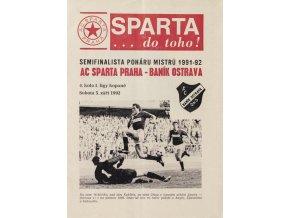 Program AC Sparta Praha vs. Baník Ostrava, 1992Program AC Sparta Praha vs. Baník Ostrava, 1992 1