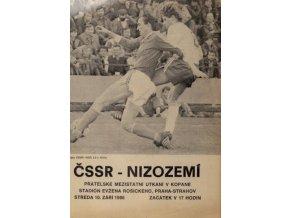 Program ČSSR vs. Nizozemí, 1986Program ČSSR vs. Nizozemí, 1986