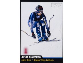 Kartička Julia Mancuso, Alpine Skier, Olympic Valley, California.Kartička Julia Mancuso, Alpine Skier, Olympic Valley, California (1)