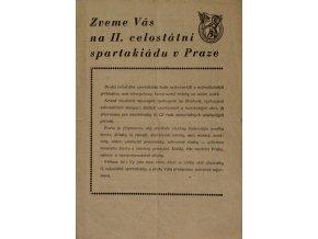 Brožura, Zveme vás na II. celostátní SpartakiáduBrožura, Zveme vás na II. celostátní Spartakiádu