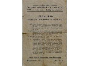 Brožura, Jízdní řád Obce Sokolské do Paříže, 1931DSC 9541