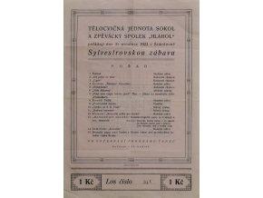 Pozvánka na Sylvestrovskou zábavu 1923, SokolPozvánka na Sylvestrovskou zábavu 1923, Sokol